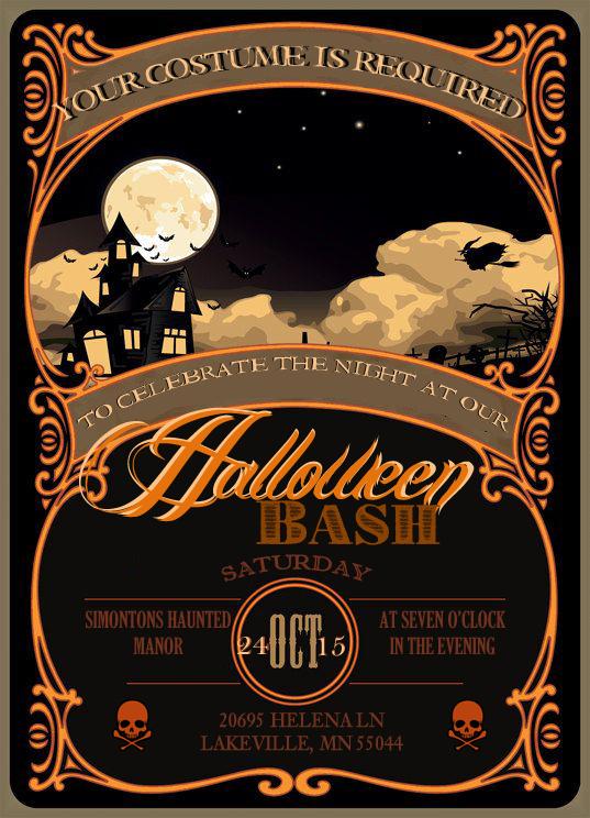 i do on a dime  free halloween invitation template