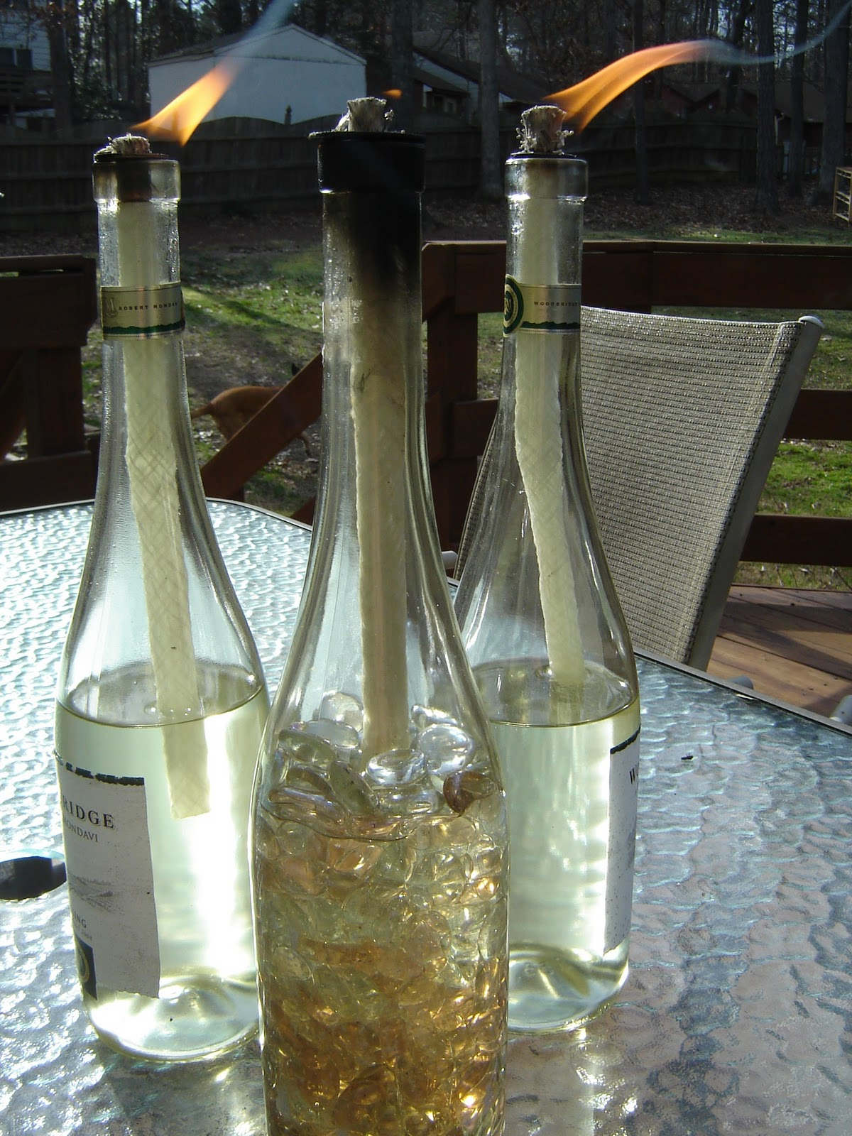 Tips tricks and ideas for home diy wine bottle tiki torches for How to preserve wine after opening bottle