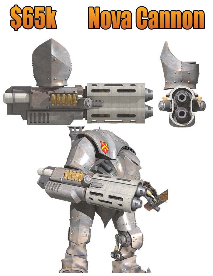 DreamForge-Games : proxy Titan / Chevalier Nova+Cannon+65k