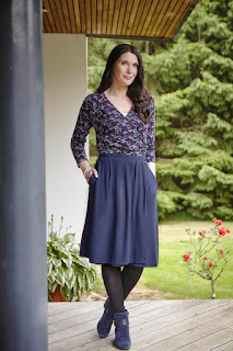 Linda Wrap Top and Debbie Wrap Skirt - outfit