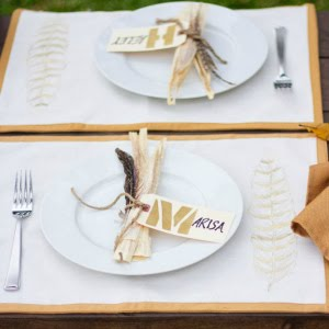 Featured Project: Thanksgiving Place Settings