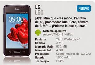 LG L50 gratis con Yoigo en septiembre