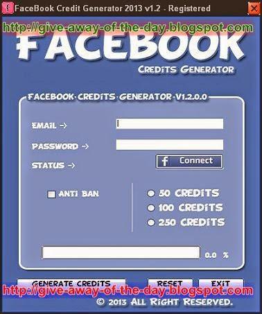 FaceBook Credit Generator 2013 v1.2