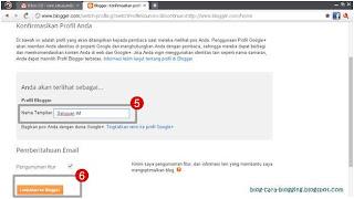 Cara Memasukkan Nama Profil blogspot.
