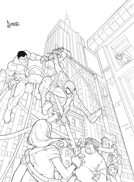 Red Spider-Man Coloring Pages