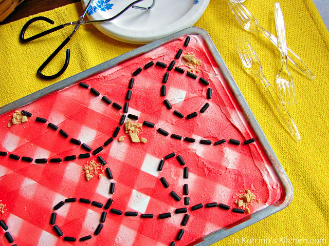 Adorable Picnic Tablecloth Cookies! Perfect for holidays and summer picnics!