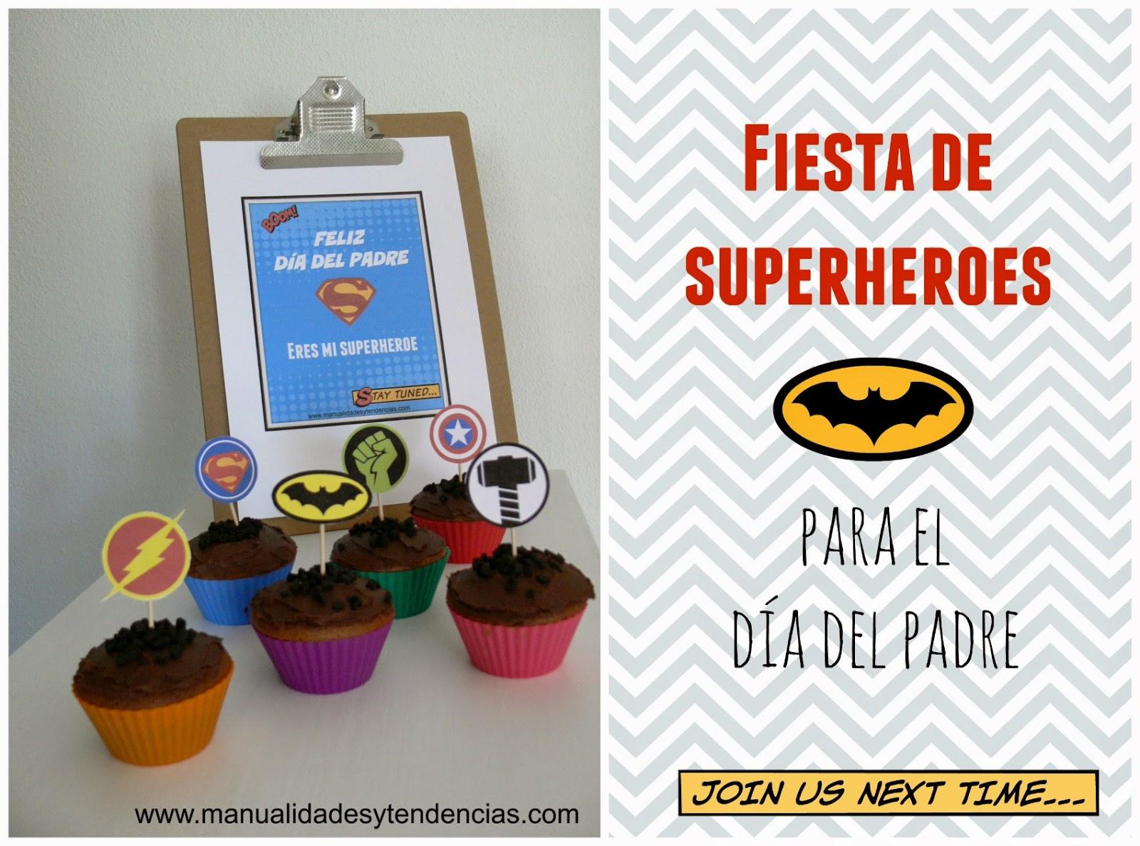 Imprimibles fiesta de superhéroes