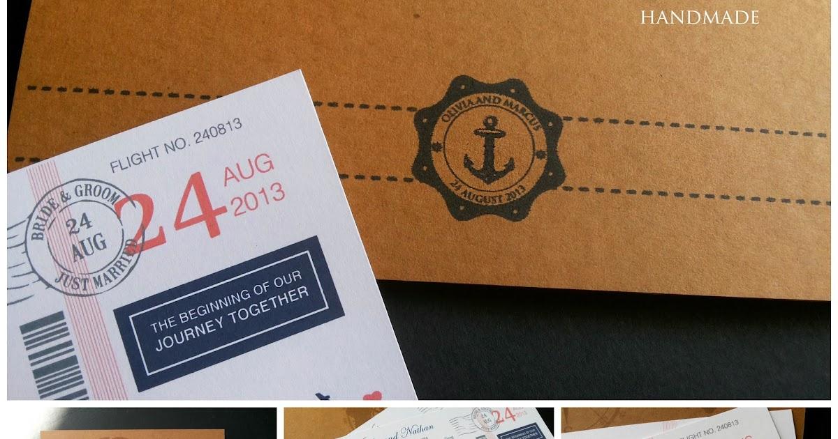 Wedding Gift Tag Malaysia : Wedding Card Malaysia Crafty Farms Handmade : Vintage Kraft Airmail ...