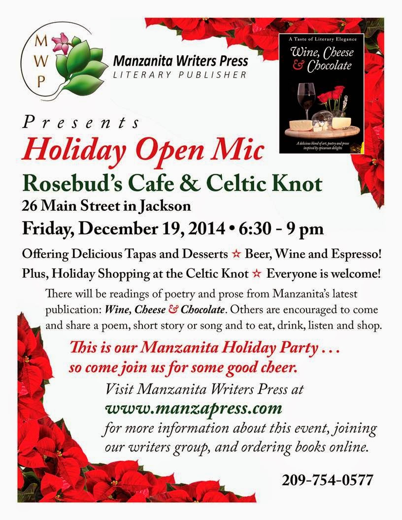 MANZANITA OPEN MIC Fri. (12/19)