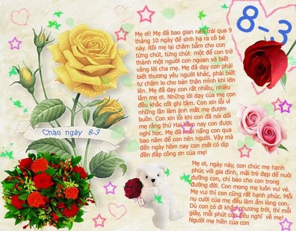Những tấm thiệp đẹp cho ngày 8-3 ý nghĩa nhất 2014, anh dep 8 thang 3