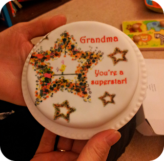 Grandma cake, posted cake, bakerdays cake