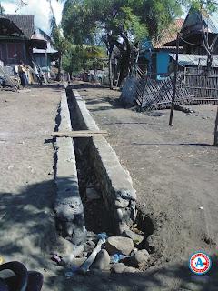 Pekerjaan Proyek PNPM-MP di Sangiang-Wera, Diduga Asal-asalan