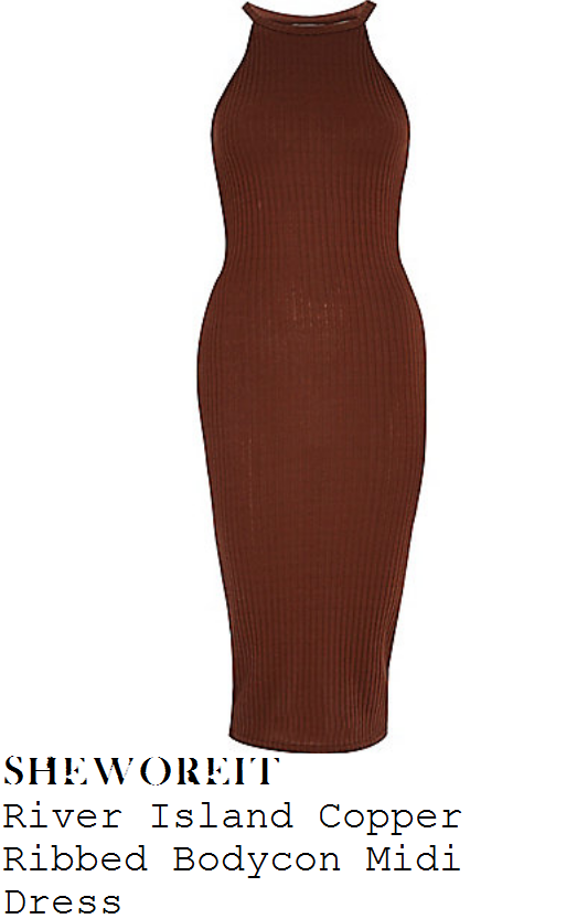casey-batchelor-brown-sleeveless-ribbed-bodycon-midi-dress