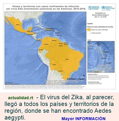 Infografía: El virus del Zika se propaga por todos los países de América