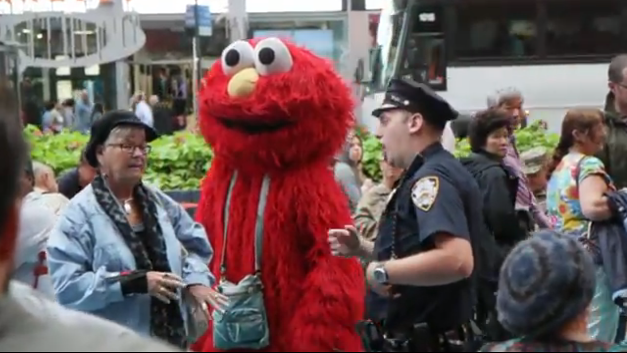 Ranting Elmo Returns and Is Arrested in Times Square - The New ...