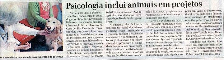 Matéria Diário de Mogi - maio/2012