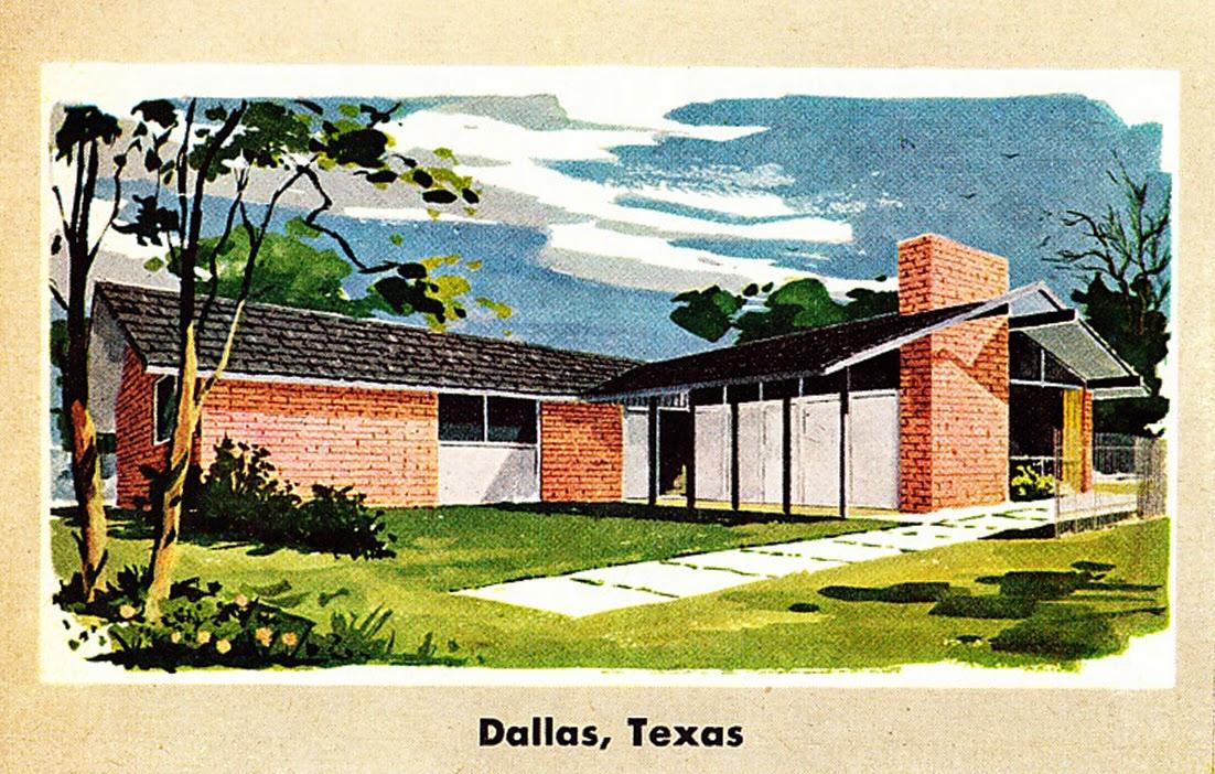 Retro Rockets Parade Of 1956 Home Plans 16 Dallas Tx