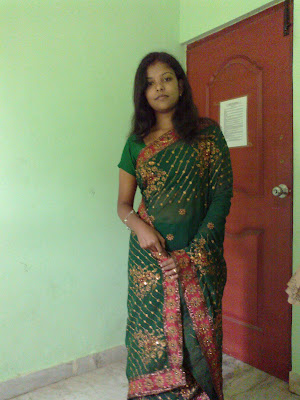 transparent saree indian girl