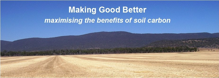 Making Good Better - understanding soil carbon.