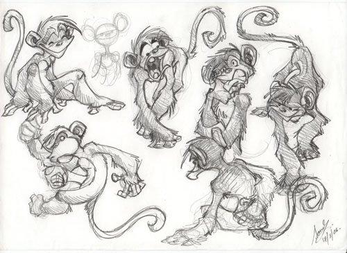 рисованные обезьяны смешные прикольные