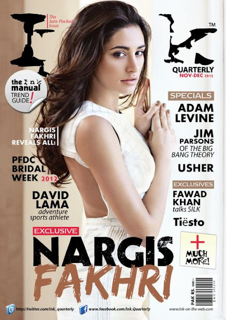Nargis Fakhri on the cover of magazine Ink