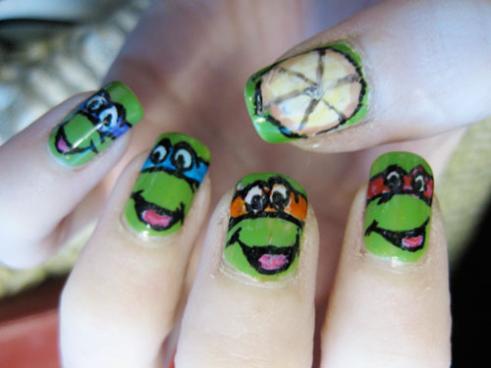 ninja turtles nail designs for kids