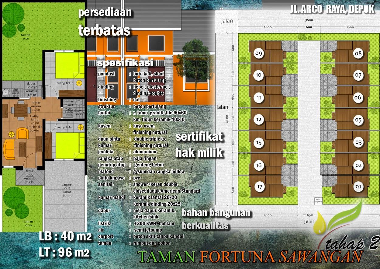 Peta Jalan Perumahan Murah BagusTaman Fortuna Depok Sawangan Jl Arco