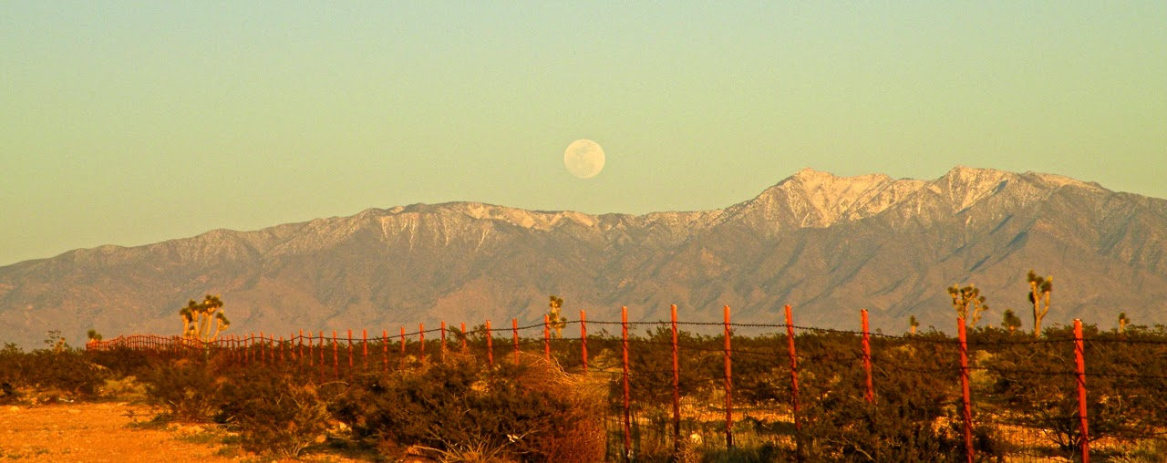 Moonrise over Nevada. Photo taken on the road home.