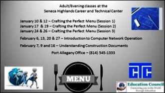 Adult Evening Classes At Seneca Highlands CTC
