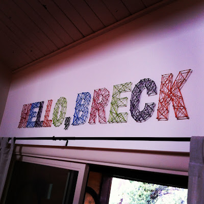 Instagram Hello, Breck string art