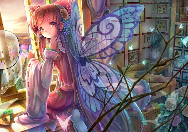 Hakurei Reimu,Touhou, anime girl