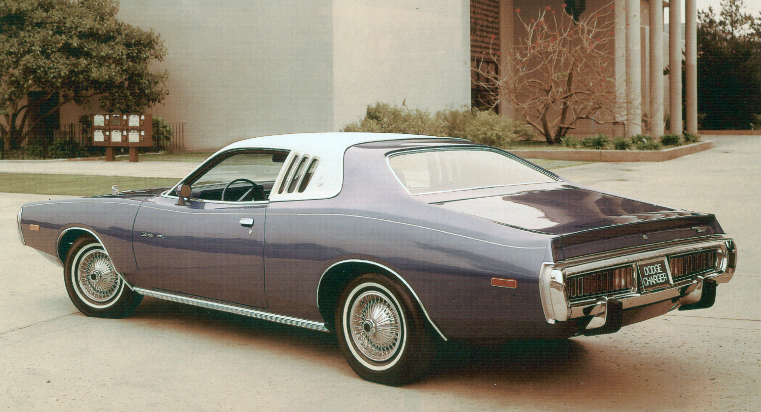 The 1972 1974 dodger charger muscle in a leisure suit