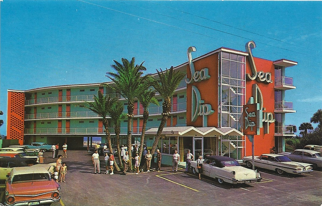 the postcard motel sea dip motel daytona beach fl. Black Bedroom Furniture Sets. Home Design Ideas