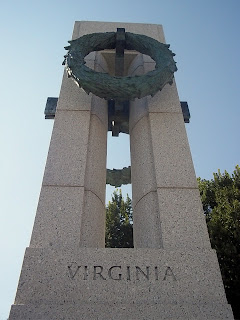 Virginia at World War II memorial