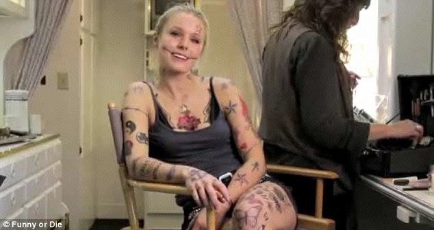 Hello Celebrity: 'I have 214 tattoos': Kristen Bell gets a ...