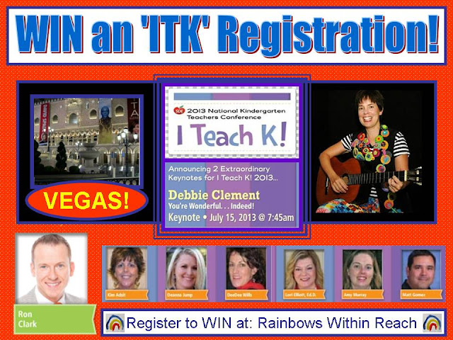 "photo of: Win an ""I Teach Kindergarten"" Registration for FREE at RainbowsWithinReach"