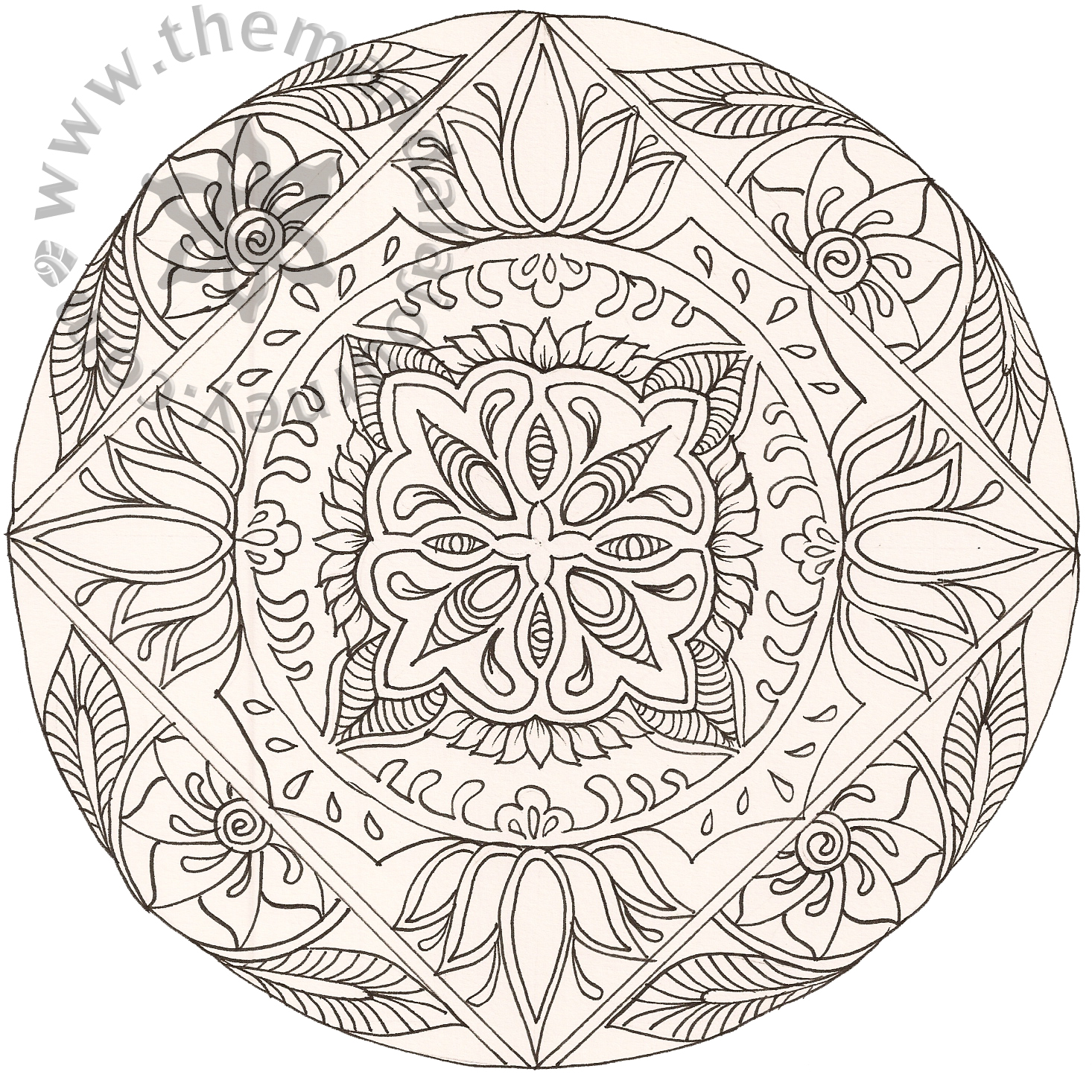 Free Coloring Pages Of Mandala Pretty