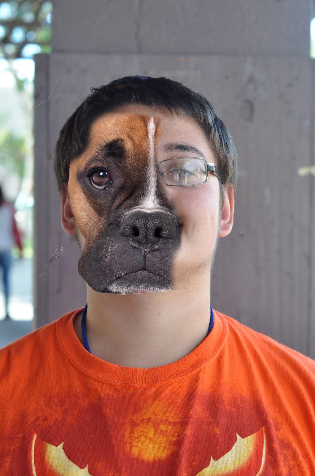 Half dog half human baby