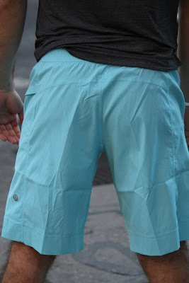 lululemon baby blue light as air mens short