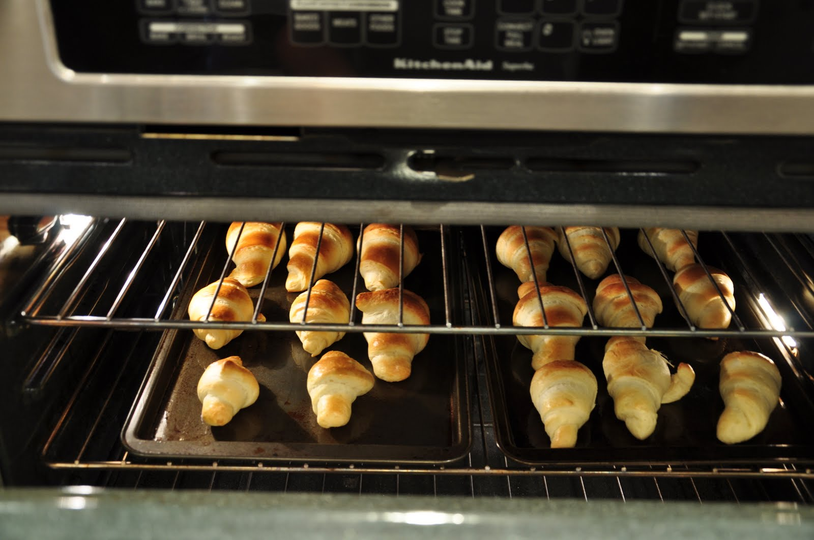 Croissants chauds du matin