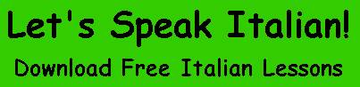 letsspeakitalian : apprenez l'italien en ligne