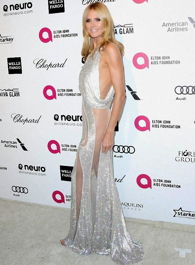 Heidi Klum lleva el mejor vestido de los premios Óscar