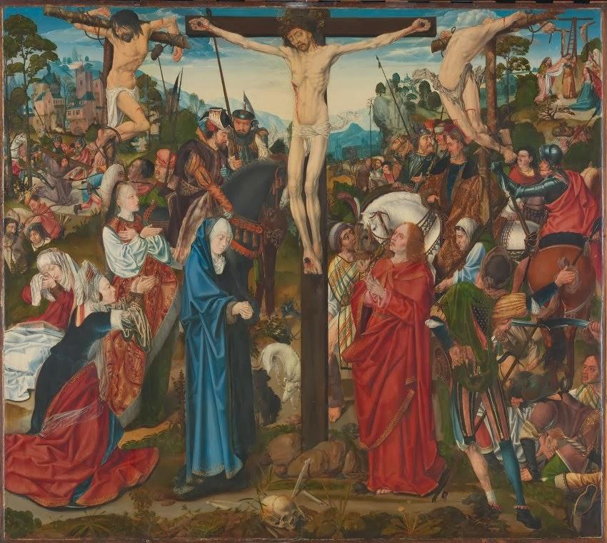 Meister des Aachener Altar - Die Kreuzigung