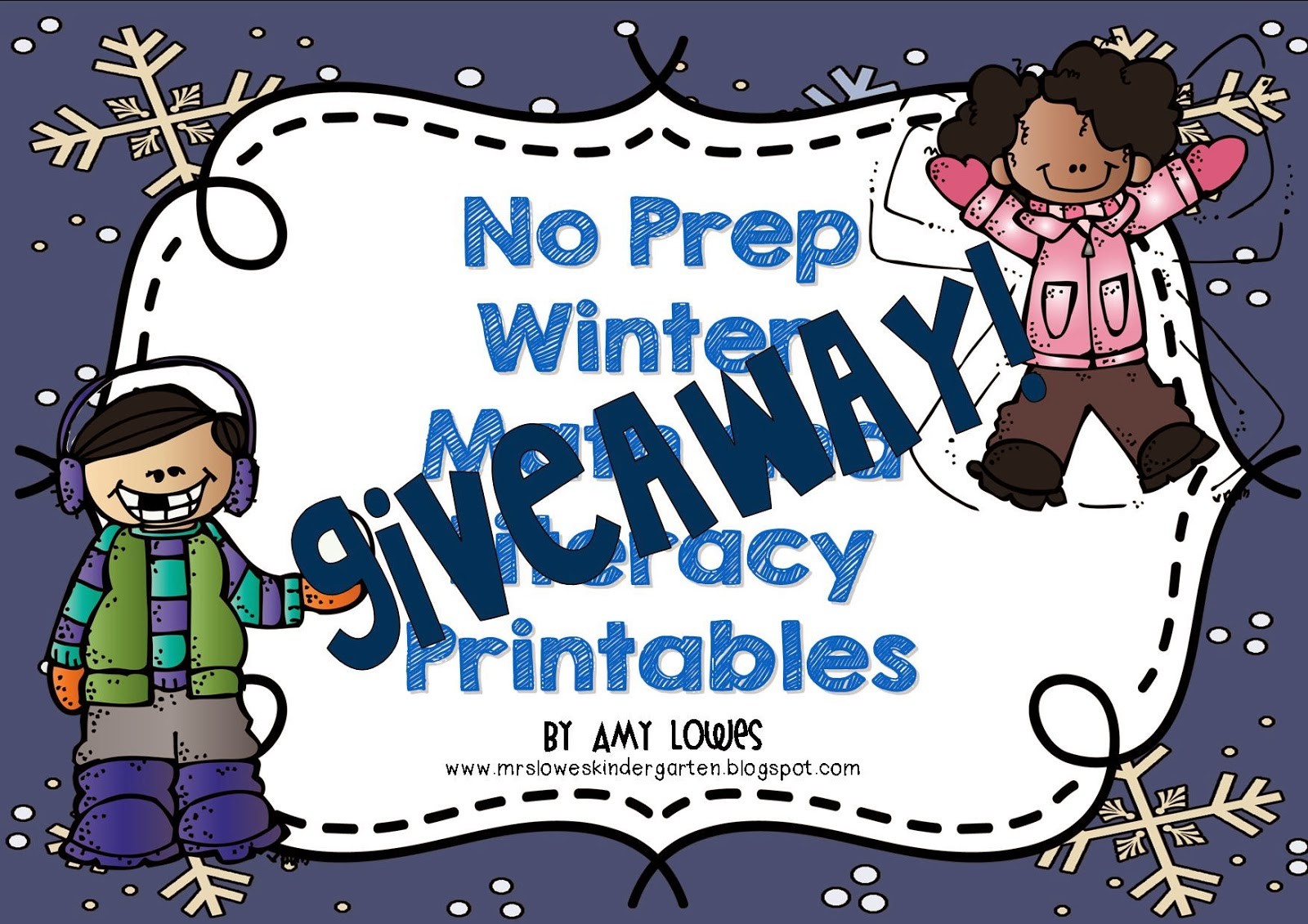 Mrs. Lowes\' Kindergarten Korner: No Prep Winter Math and Literacy ...