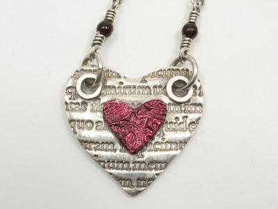 PMC fine silver heart