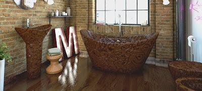 Ονειρικό μπάνιο φτιαγμένο από σοκολάτα Βελγίου