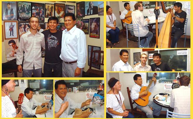 Dardo Noguera y Mario Ferreyra en el programa radial Valorando Lo Nuestro