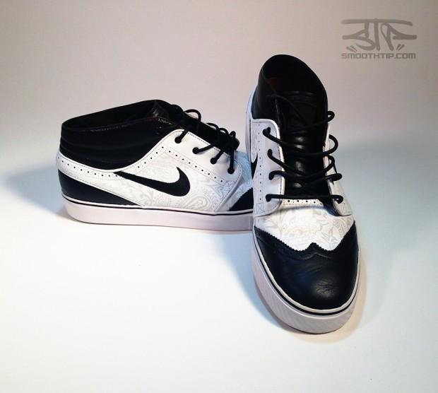 Nike Sb Zoom Stefan Janoski Mid Tuxedo Custom