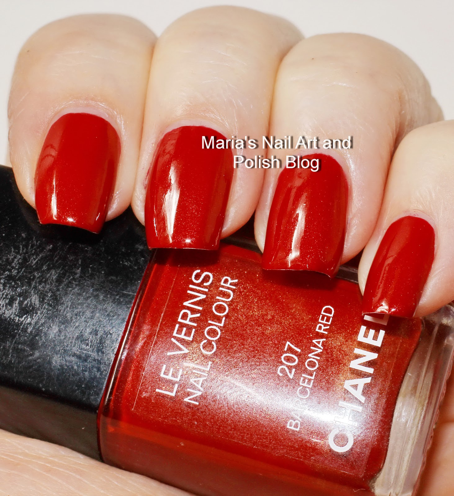 Marias Nail Art And Polish Blog Flushed With Stripes And: Marias Nail Art And Polish Blog: Chanel Barcelona Red 207