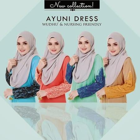 YAng Paling Cantik Menawan Ayuni Dress, Nursing Friendly Kini Di Pasaran